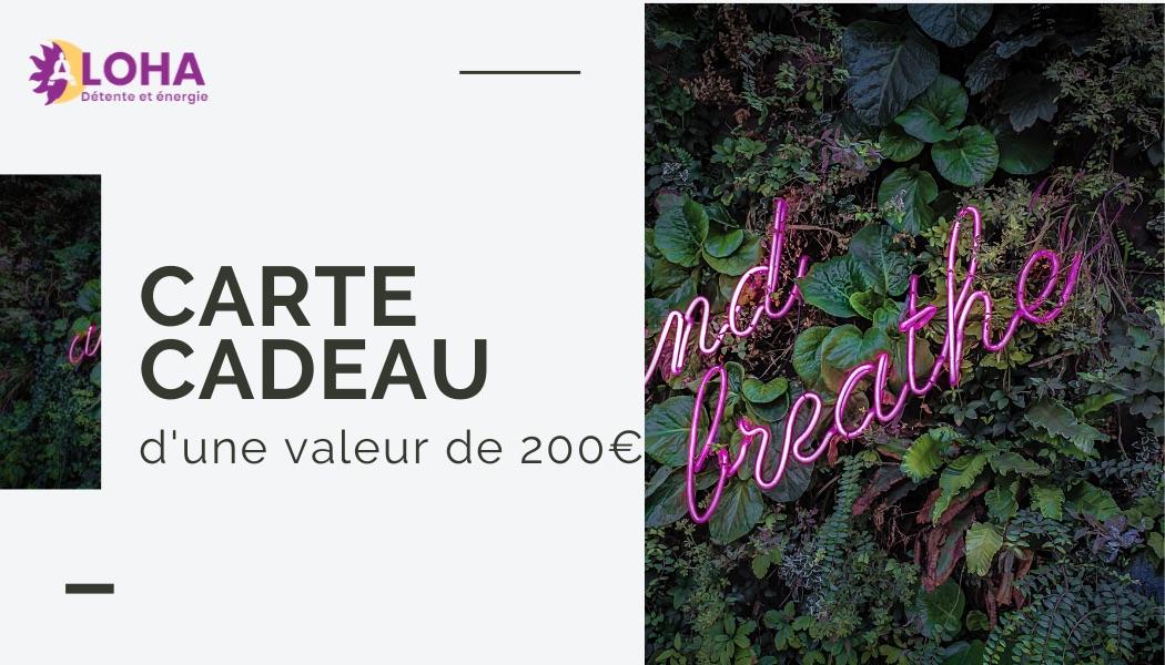 Carte Cadeau Dojo Aloha Provence 200€