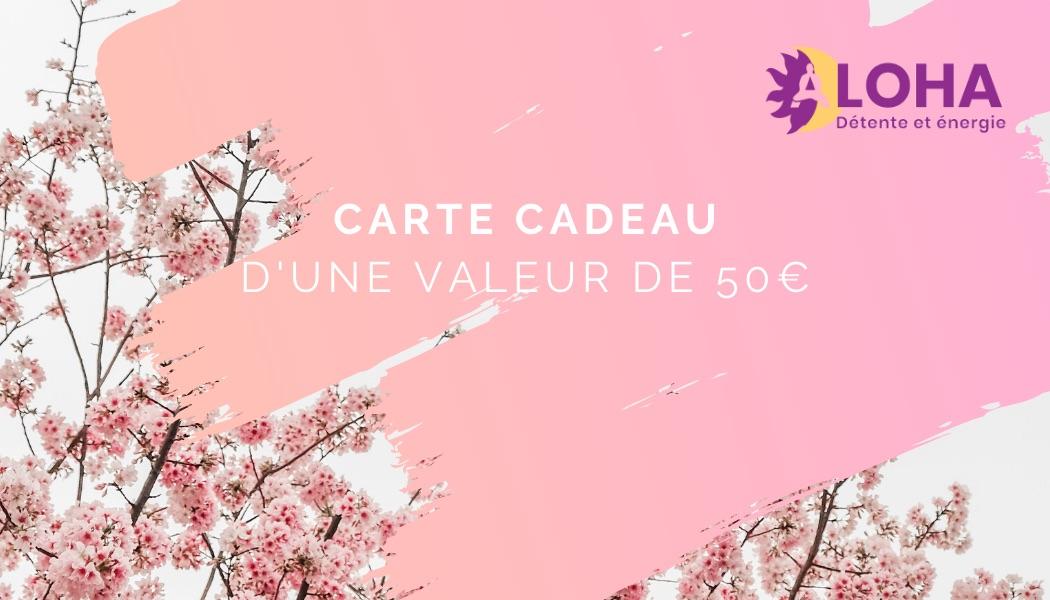 Carte Cadeau Dojo Aloha Provence 50euros